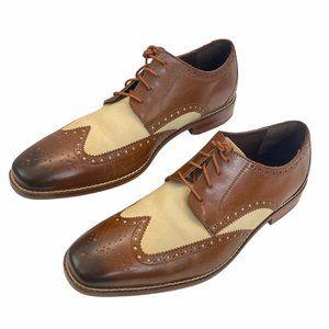 Florsheim Men's Oxford Wingtip Saddle Shoes 10